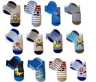 New Baby Boy Anti Non Slip Cotton Silicone Sole Socks  6-12m, 12-18m, 18-24m