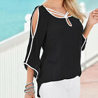 New Women Short Sleeve Off Shoulder Loose T-Shirt Casual Top Blouse Puliover Tee