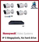 Honeywell IP CCTV Kit, 4 Bullet cameras 3MP with NVR