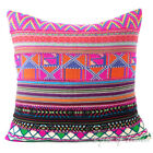 """24"""" Pink Dhurrie Patchwork Throw Couch Cushion Pillow Cover Boho Bohemian Indian"""