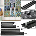 MAGNETIC BLACK STRIP WALL MOUNT KNIFE UTENSIL TOOL HOLDER STORAGE RACK BAR BLOCK