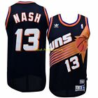 STEVE NASH Phoenix SUNS Black HARDWOOD Classic THROWBACK Swingman Jersey S-2XL