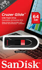 USB Flash Drives - 16GB 32GB 64GB SanDisk CRUZER GLIDE USB 20 Flash Memory Pen Drive Thumb Stick
