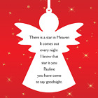 Personalised Hanging Angel Acrylic Plaque 1 name. There is a star in Heaven AG10