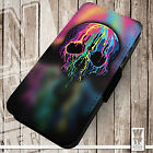 Dripping Skull | Printed Faux Leather Cover Case Flip Style | Paint Drip Melting