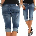 Herrlicher Damen Jeans Shorts Pitch 5113 D9662 Damenhose Damenjeans 3/4 Jeans