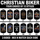 DOG TAG NECKLACE - CHRISTIAN BIKER 12 Styles Mix N Match Motorcycle America USA