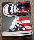 New! Baby Boys/Girls Converse Shoes (Chuck Taylor; Flag; Hi Tops) - Size 7, 9 C