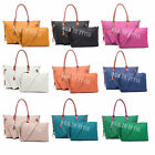 Ladies Large Top Zip Opening 3 in 1 Tote Shopper Bag with Long Strap