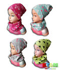 Girl Toddler Kids Spring Autumn Hat Cap and Scarf Snood Set Cotton Size 6-12M