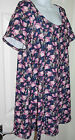 Ladies New Look Inspire Ditsy Print Floral Tunic Top - Size 16