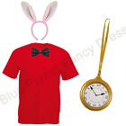 CHILDRENS KIDS BOYS GIRLS WHITE RABBIT FANCY DRESS COSTUME BOOK WEEK DAY