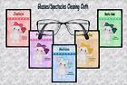BIRTHSTONE MOUSE CUTE GLASSES/SPECTACLES CLEANING CLOTH JANUARY DECEMBER