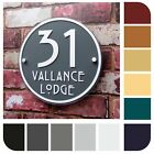HOUSE SIGNS/MODERN ADDRESS PLAQUES DOOR NUMBER ROUND HANDMADE Property Plate