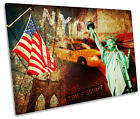 New York City Grunge NYC CANVAS WALL ART Picture Print Single