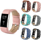Genuine Leather Watch Strap Bracelet Wrist Band For Fitbit Charge 2 Wristwatch ☪