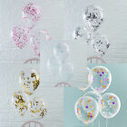 "BABY SHOWER BALLOONS - CONFETTI FILLED - 5 Pack 12"" Luxury Helium Quality Party"
