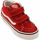Vans Kids SK8 Mid Hi Reissue V Kids Youth Red White Shoes Size 10.5-3