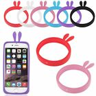 Rabbit Ears Universal Soft Silicone Phone Skin Case Cover Frame for Most Phones