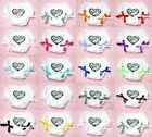 Valentine Zebra Heart Printing with Various Bows Pure White Pantie Bloomer 6m-3Y