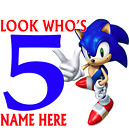 Sonic the Hedgehog BIRTHDAY AGE  WHITE T SHIRT freepost