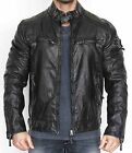 CIPO AND BAXX COTTON BLACK TRENDY CM124 LEATHER MOTORCYCLE JACKET