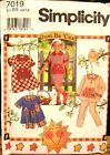 Simplicity 7019 Girls Dress Top & Pants MANY SIZES OOP VINTAGE