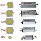 10W-100W Cool/Warm White LED Driver Power Supply IP65 LED Lamp Light Chip Bulb