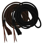 Showman 23' Round Braided Mecate Reins w/ Leather Ends!