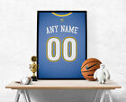 Denver Nuggets Jersey Poster - Personalized Name & Number FREE US SHIPPING on eBay
