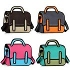 Chic 2D Messenger Drawing Handbag Tote Jump Style Shopping Bag Bag Cartoon