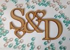 Personalised Laser Cut Topper Wooden Ideal Wedding Memories Box 2 Initials. INTP