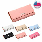 New Women Clutch Leather Handbag Long Wallet Card Purse Case Holder W6