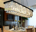 """2 Colors 48"""" Rectangle Crystal Chandelier Lighting Pendant Light for Dining Room"""