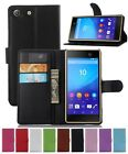 Wallet Leather Flip Card Case Pouch Cover For Sony Xperia M5 Genuine AuSeller