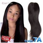 V-Part Invisible Closure Real 100% Human Indian Remy Hair Straight Top Grade