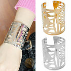 New Women's Gold/Silver Plated Wide Hollow Pattern Bangle Bracelet