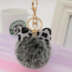 Creative Butterfly Bow Pendant Soft Fur Keychain Key Ring DIY Gift Décor