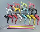 "24""/26"" 700C Fixed Gear Bike Road Bicycle Front/Rear Brake Lever Shifter Set"