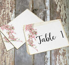 DOUBLE or SINGLE SIDED SOFT PINK WEDDING BELLS TABLE CARDS or SIGNS #312