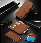 Luxury Genuine Leather Flip Wallet Phone Case Cover for iPhone 6, 6Plus Magnetic