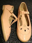 Pastel Pink Patent T-Bar Geek Shoes Flats Dolcis Size  5