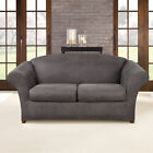 Sure Fit Ultimate Stretch Polyester Faux Leather Box Cushioned Sofa Slipcover