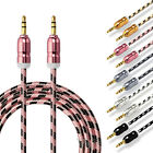 Strong Nylon Braided 3.5mm Male to Male Car Aux Audio Cable MP3 PC Cellphone 3FT