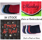 PONY Stars Hearts 4 Fonts 3 designs Embroidery Personalised Saddle Cloth Numnah