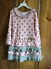Bonnie Jean Pink and Grey Easter  Dress sz 4,6,6x