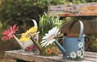 Antique Finish Hand Painted Spring Decorative Watering Can Metal Garden Planter