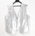 Glitter Men's Sequins Vest Slim Fit Jacket Clubwear Party Waist Coat Suit Outwea