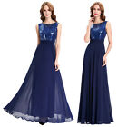 New Long Chiffon Sequined Evening Formal Party Ball Gown Prom Bridesmaid Dress