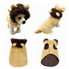 Pet Puppy Dog Cat Lion Cosplay Hoodie Coat Clothes Jumpsuit Apperal Costume New